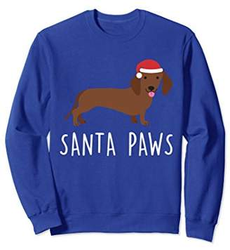 Dachshund Dog Ugly Christmas Sweater Xmas - Santa Paws
