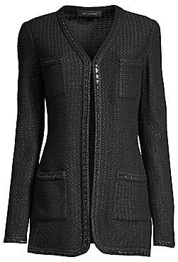 St. John Women's Adina Knit V-Neck Jacket