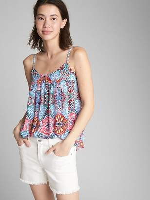 Gap Shirred Square-Neck Cami