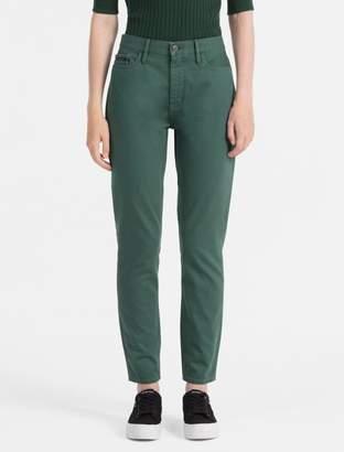 Calvin Klein slim high rise colored jeans