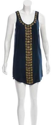 Haute Hippie Embellished Silk Dress