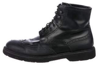 Giorgio Armani Leather Brogue Boots