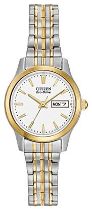 Citizen Women's Eco-Drive Flexible Band Two-Tone Watch #EW3154-90A