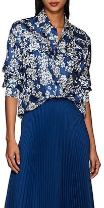 THE GIGI Women's Veta Floral Silk Western Blouse