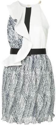 Self-Portrait short belted dress