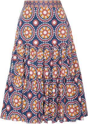 La DoubleJ The Apres Stretch-Cotton Midi Skirt