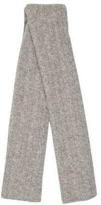 Sofia Cashmere Cashmere Cable Knit Scarf Grey Cashmere Cable Knit Scarf