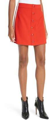 Veronica Beard Malva Side Stripe Miniskirt