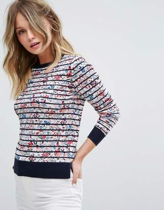 Oasis Floral and Stripe Knited Sweater