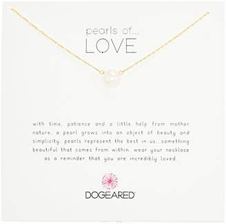 "Dogeared Pearls of Love"" Sterling and Pearl Necklace"