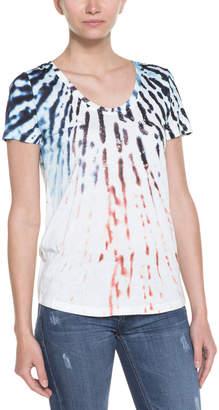 Aiko Olympia Multicolor Petal Print Tee