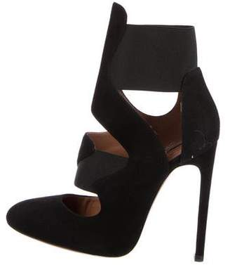 Alaia Suede Cut-Out Pumps
