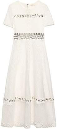 Maje Eyelet-Embellished Guipure Lace Dress