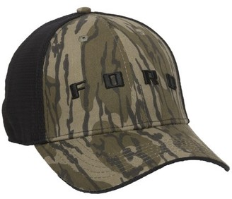 Mossy Oak Ford Stretch Fit Cap in Bottomlands Camo ; Large / X-Large