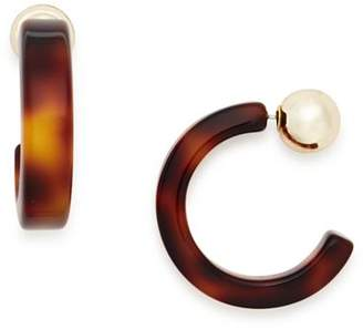 Aqua Tortoise Hoop Earrings - 100% Exclusive