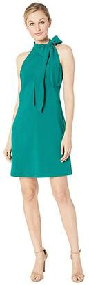 Vince Camuto Kors Crepe Halter w/ Bow at Neck