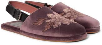Dries Van Noten Embroidered Velvet Sandals