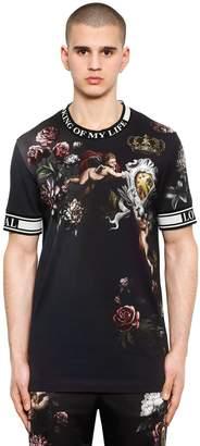 Dolce & Gabbana Angel Printed Jersey T-Shirt