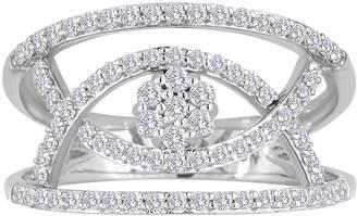 FINE JEWELRY diamond blossom 1/2 CT. T.W. Diamond Sterling Silver Open Orbit Ring