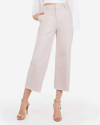 Express Extreme High Waisted Cropped Wide Leg Pants