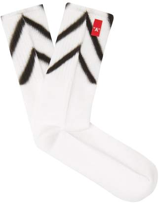 Off-White Diag sprayed socks