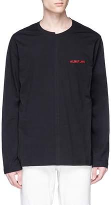 Helmut Lang Asymmetric collar long sleeve T-shirt