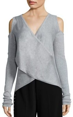 Derek Lam 10 Crosby Cross Front Silk & Cashmere Blend Sweater $395 thestylecure.com