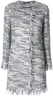 Tagliatore fitted tweed coat