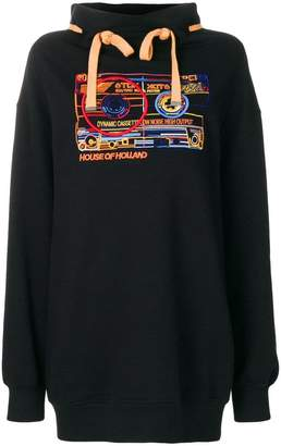 House of Holland cassette oversize sweatshirt