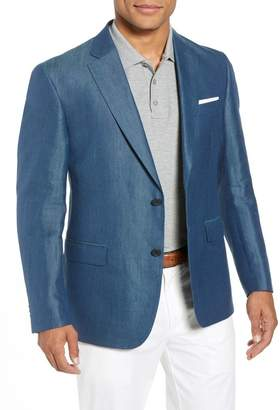 John W. Nordstrom Traditional Fit Linen & Silk Blazer