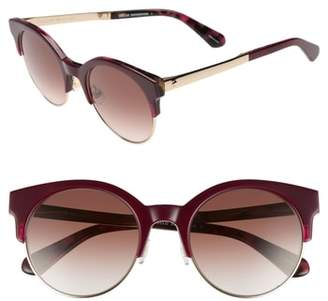 Kate Spade Kaileen 52mm Semi-Rimless Cat Eye Sunglasses