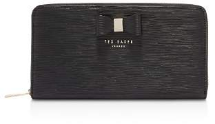 Ted Baker Peony Zip-Around Textured Leather Matinee Wallet