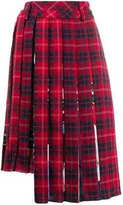 Iceberg check pleated skirt