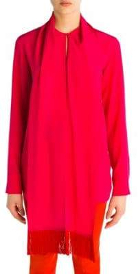 Stella McCartney Wilma Silk Tie Neck Blouse