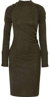 Walter W118 By Baker Ginavine Ruched Metallic Knitted Dress