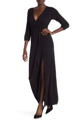 Velvet Torch Half Sleeve Maxi Dress