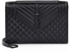 Saint Laurent Large Tri-Quilt Leather Envelope Shoulder Bag