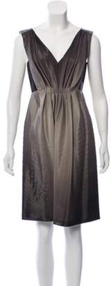 Alberta Ferretti Ombré Wool & Silk-Blend Dress Grey Ombré Wool & Silk-Blend Dress