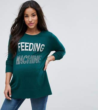 Asos Nursing NURSING Feeding Machine Slogan Sweater