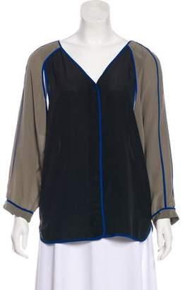 Alexander Wang Silk Long Sleeve Top