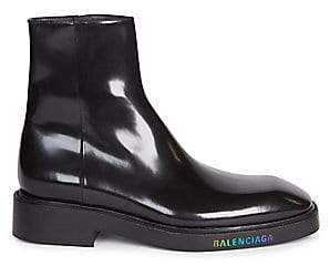 Balenciaga Men's Led Patent Leather Ankle Boots
