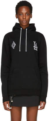 Marcelo Burlon County of Milan Black LA Dodgers Edition Hoodie