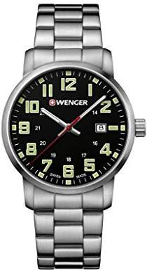 Wenger Unisex Analogue Quartz Watch with Stainless Steel Strap 01.1641.111