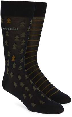 BOSS 2-Pack Pine Tree Socks