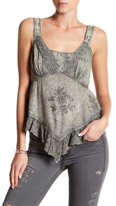 Romeo & Juliet Couture Ruffle Trim Tank Top