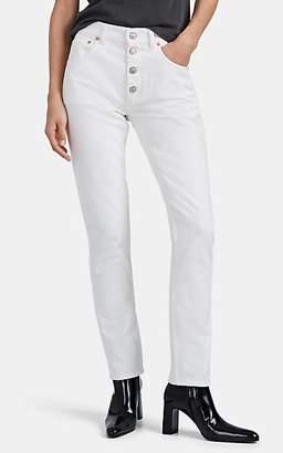 Balenciaga Women's Tube High-Rise Jeans - White