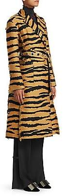 Proenza Schouler Women's Tiger Print Wrap Coat - Size 0
