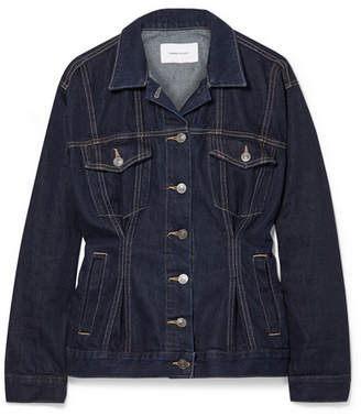 Current/Elliott The Corset Trucker Denim Jacket - Dark denim