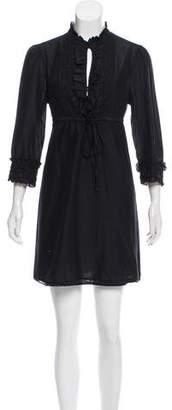 Joie Lace-Trimmed Mini Dress