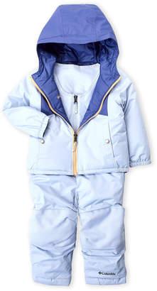 Columbia Toddler Girls) 2fer Reversible Hooded Jacket & Overalls